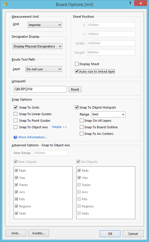 board options online documentation