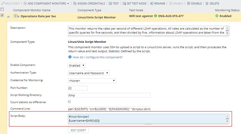 Write scripts for SAM script monitors