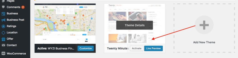 activating-another-theme-wyzi-business-finder