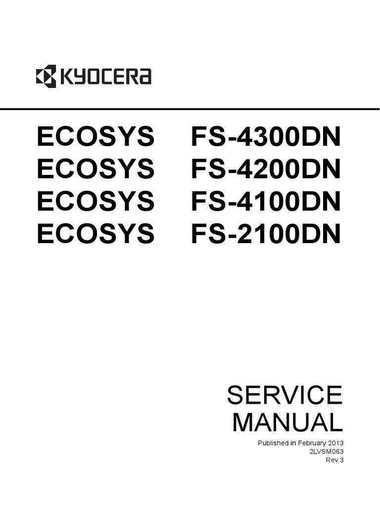 Kyocera Ecosys Fs-2100dn Fs-4100dn Fs-4200dn Fs-4300dn