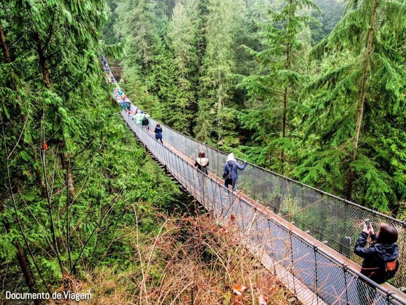 Ponte suspensa em Vancouver