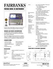 FB2550 NEMA 4X Instrument