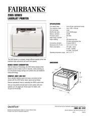 2055 Series LaserJet Printer