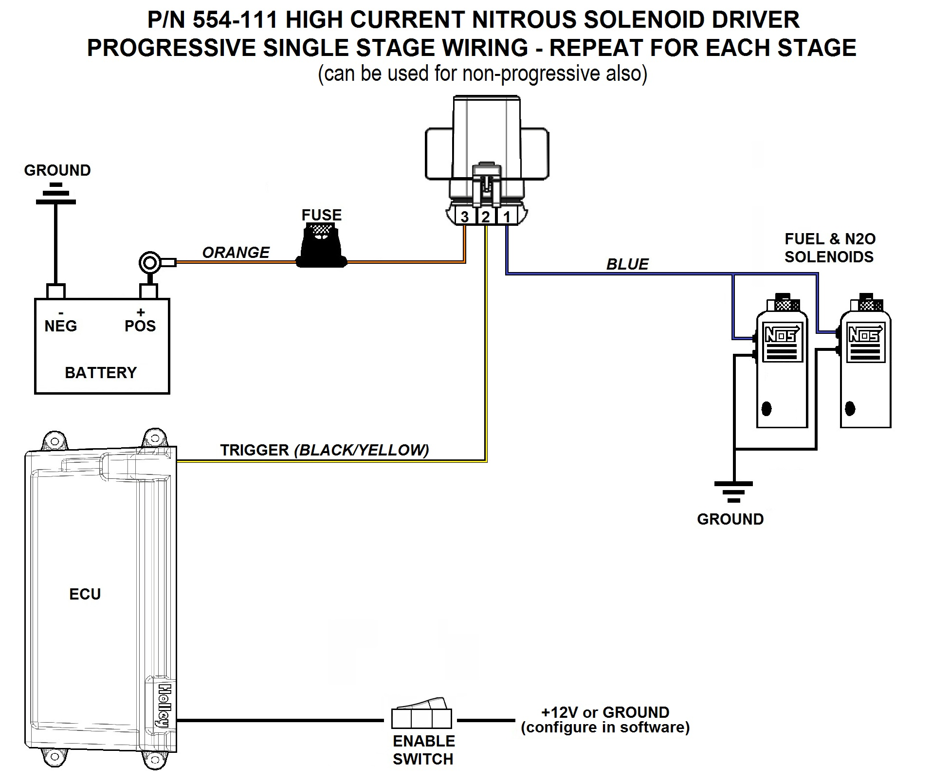 holley projection wiring diagram
