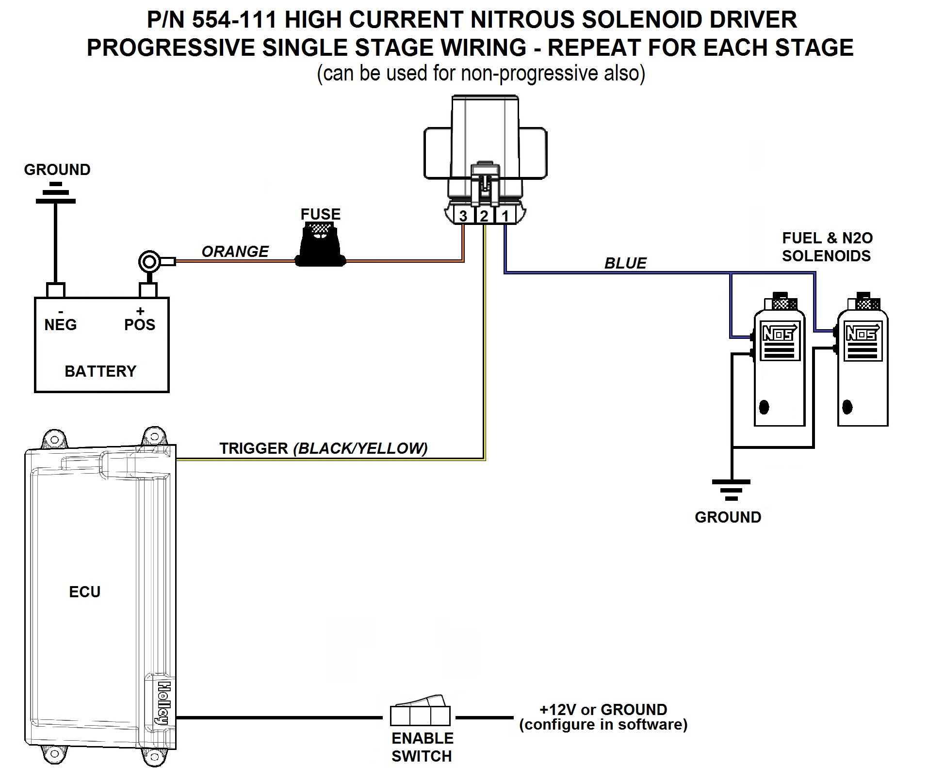 nitrous express wiring diagram cummins n14 celect relay with solenoid