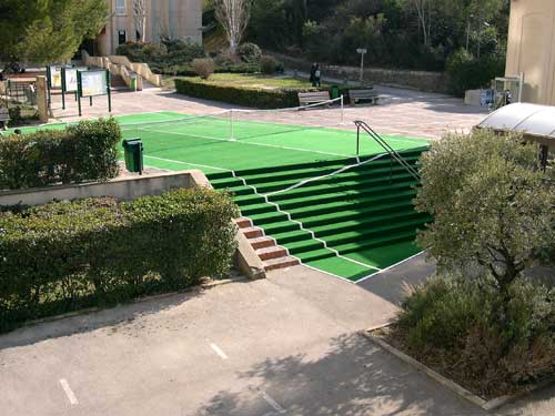 false tennis court