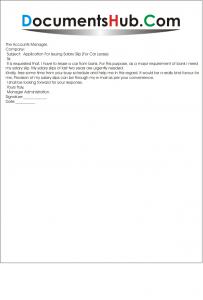 Letter for Issuing Salary Slip