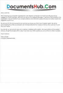 Apology Letter for Customer