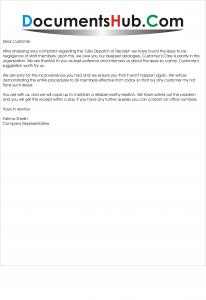 Sample Apology Letter for Customer