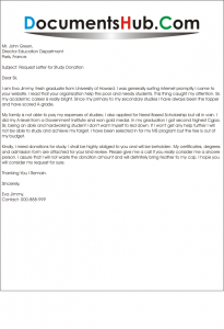 Donation Request Letter for Students