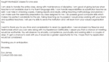 cover letter for government job teachers - Cover Letter For Government Job