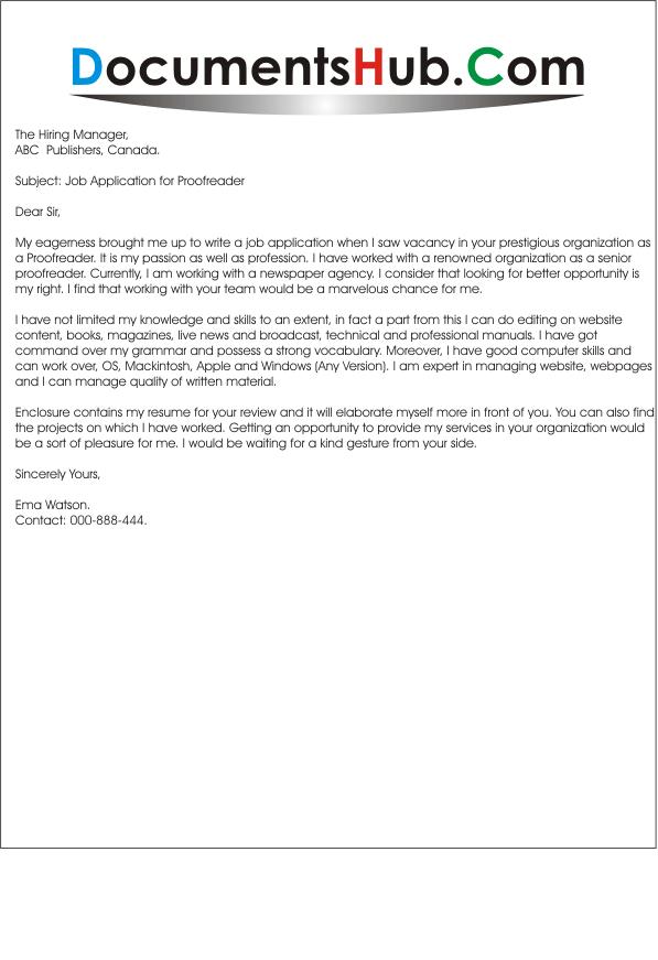 Proofreader Editor Cover Letter - sarahepps.com -