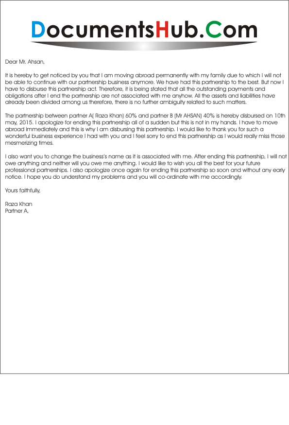 Apology Letter for Ending Partnership