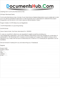 Dinner Invitation Letter for Clients