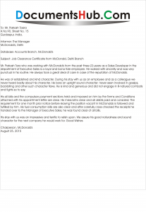Employees Job Leaving Certificate Application Sample