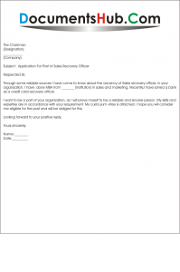 Application_for_the_Post_of__Sales_Recovery_Officer-199x300 Sample Application Letter For The Post Of Digital Credit Officer on