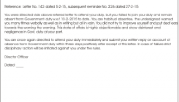 How to reply a query letter for misconduct?