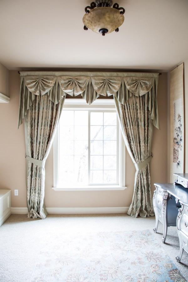 Emerald Bouquet Paris Salon Cascade Valances Curtain Drapes
