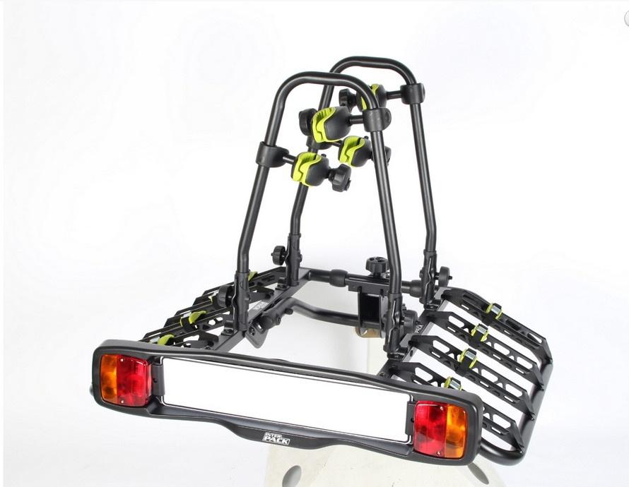 Uchylna platforma na hak na 4 rowery z zabezpieczeniami