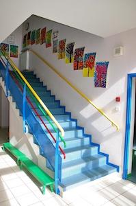 Ecole privée d'Irigny escalier