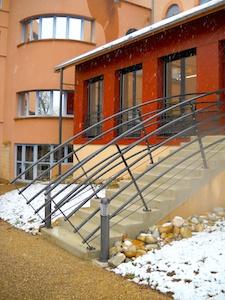 Maison retraite Montmerle 2ème tranche escalier