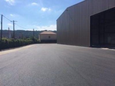 construction d'une plateforme logistique pour BigMat à Condrieu