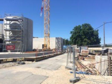 Construction d'une station de traitement des eaux