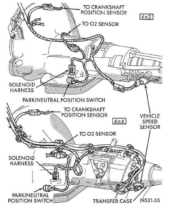 2004 dodge dakota transmission diagram