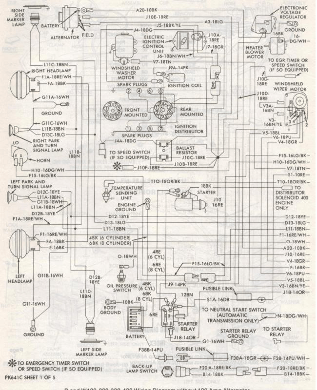 85 Dodge Ram Wiring Schematic