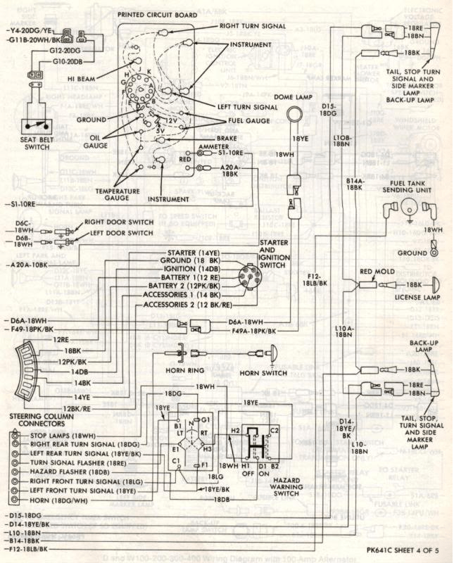 1981 dodge pickup wiring diagram  description wiring