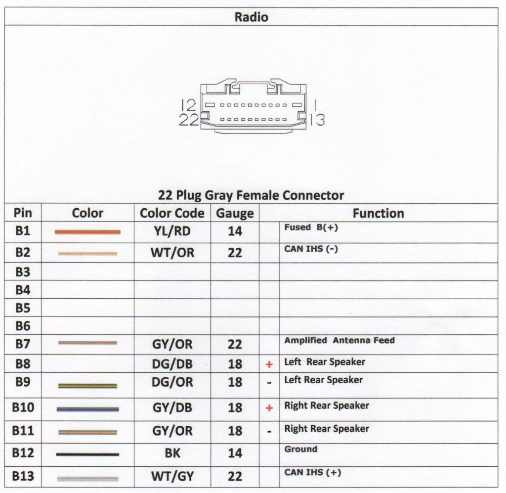 2013 Dodge Avenger Radio Wiring Harness | Wiring Diagram on
