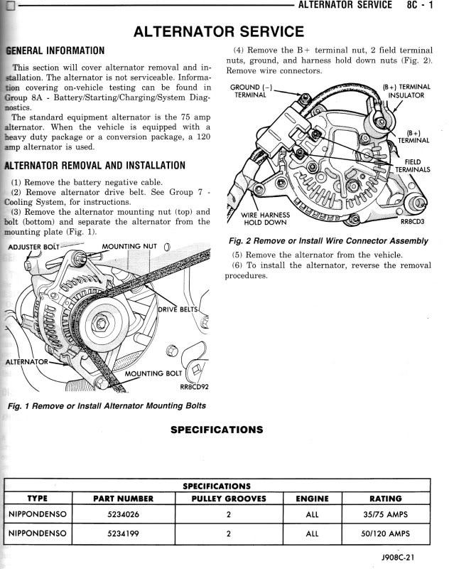 98 dodge cummins alternator wiring diagram