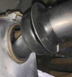 install fuel tank seal grommet to filler pipe grommet slid over  [ 2477 x 1919 Pixel ]