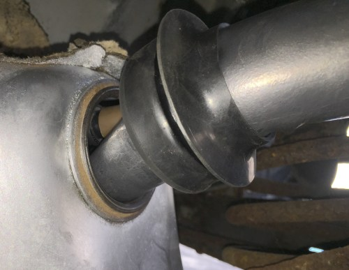 small resolution of  install fuel tank seal grommet to filler pipe grommet slid over