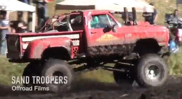 lil red express dodge mud truck 600