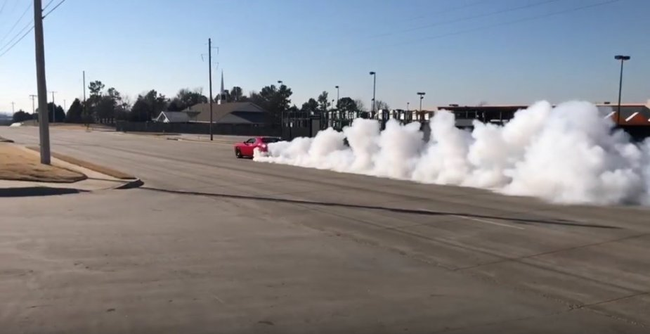 Hellcat Challenger Tribute Burnout