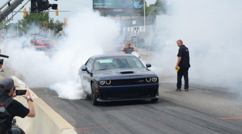 Hellcat Challenger Burnout