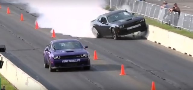 Rawlings Crashes a Dodge Hellcat Challenger