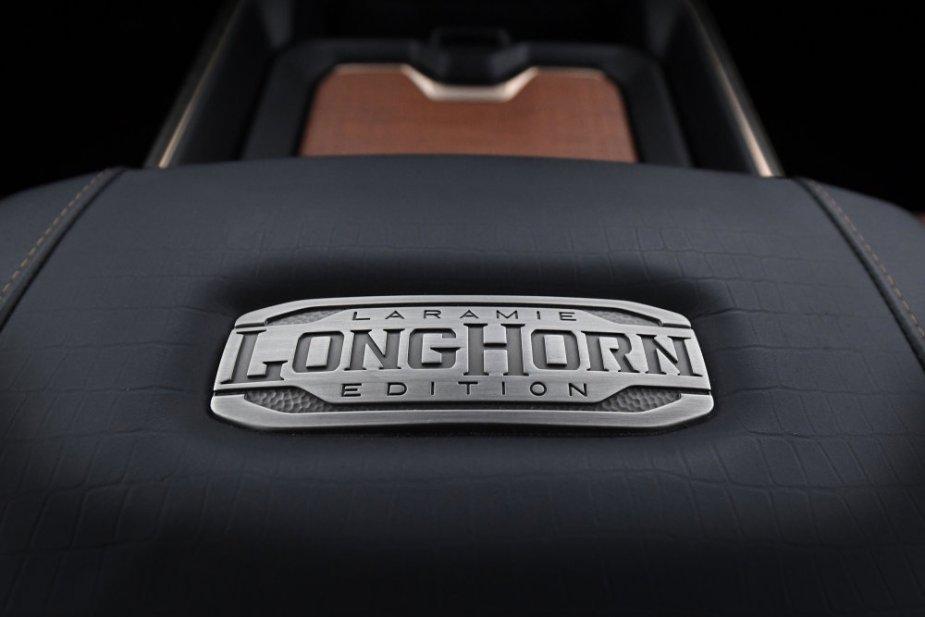 2019 Ram 1500 Laramie Longhorn – Center Console Metal Badge