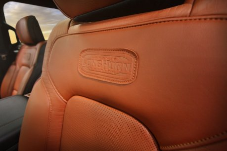 2019 Ram 1500 Laramie Longhorn – Seat Embossed Patch Detail