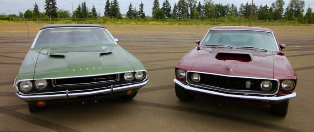 Challenger and Mustang