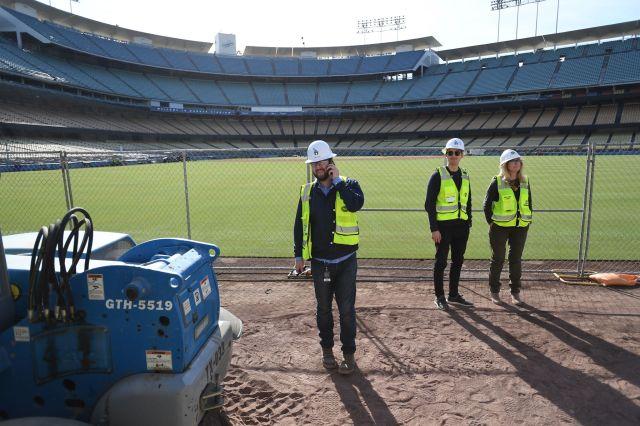 dodger stadium renovations, renovation team, derek o'hara, Daniel Fetcho, April Alexander, centerfield Dodger stadium,