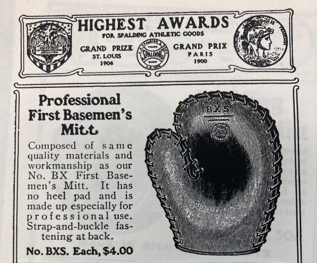 first baseman's mitt historical glove