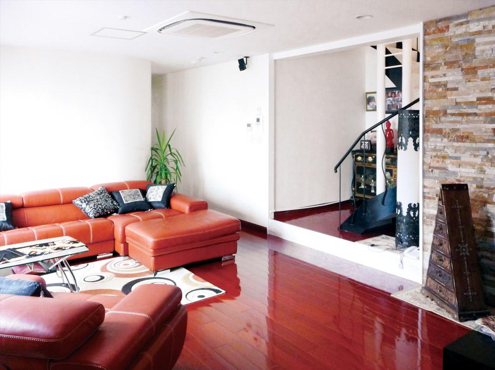 神戸市・J邸3階リビングルーム