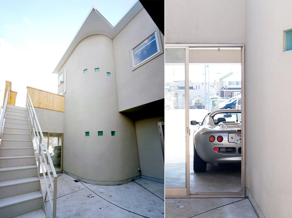 神戸市・K邸ガレージと中庭
