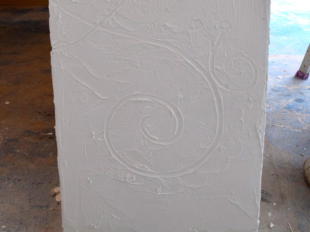 塗り壁の模様のアップ