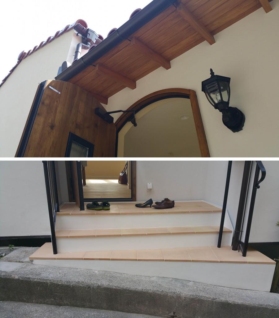 階段と軒裏