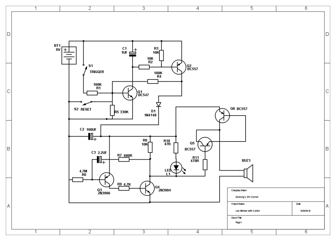 small resolution of led blinker with 5 latch 1