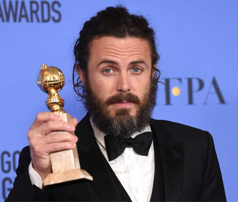 Actor Casey Affleck, winner of Best Actor in a Motion Picture - Drama