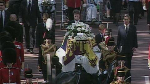 Princess Diana Coffin at her 1997 funeral